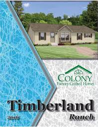 Colony Homes Floor Plans by Colony Homes Timberland Ranch 2016 By The Commodore Corporation