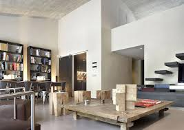 contemporary open plan space apartment in barcelona designed by