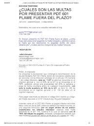 cuanto es la multa por no presentar la declaracion jurada 2015 multas por presentar pdt 601 plame fuera del plazo