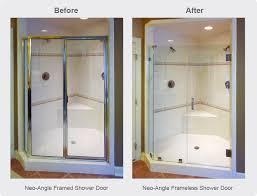Framed Vs Frameless Shower Door Frameless Shower Doors Why Go Frameless Dulles Glass And Mirror