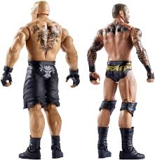 wwe summerslam 6 inch action figure brock lesnar and randy orton