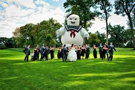Stay Puft Marshmallow Man Meme - i see your jurrasic park wedding photo and raise you a stay puft