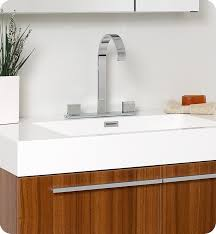 Teak Bathroom Cabinet Fresca Vista Teak Modern Bathroom Vanity With Medicine Cabinet