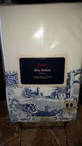 spode blue italian tablecloth 60 x 144 blue and white china