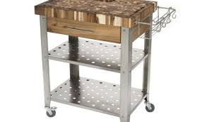 stainless steel kitchen island cart walnut wood raised door stainless steel kitchen island