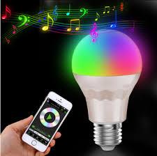 bluetooth music light bulb shenzhen factory smart bluetooth music flashing led l e27 wifi