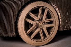 lexus rx300 tyre size lexus builds cardboard vehicle that you can actually drive w