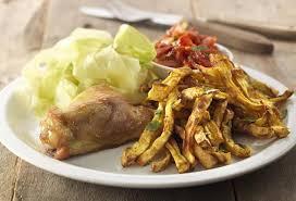 cuisiner le chou pointu recette de frites de céleri avec cuisses de poulet open