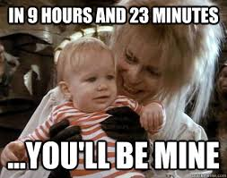 Labyrinth Meme - in 9 hours and 23 minutes you ll be mine jareth the goblin king