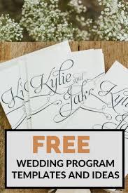wedding programs free free wedding program templates program template wedding