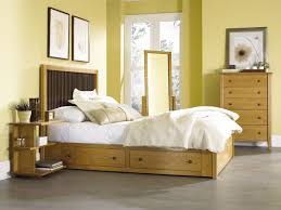 Nightstand With Shelves Open 3 Shelf Cherry Wood Nightstand Underbed Storage Mate Made