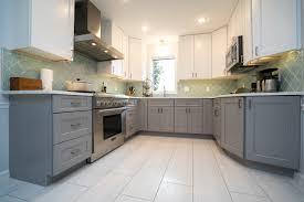 what color backsplash with gray cabinets 75 beautiful kitchen with gray cabinets and glass tile