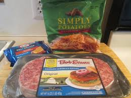 bob evans sausage patty burger w hash browns 001 my meals are on
