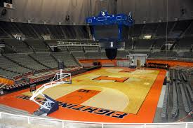 illini basketball court not damaged by water news local state