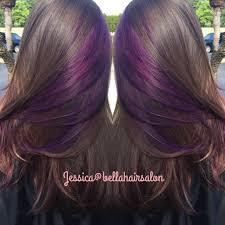 purple peekaboos hair by jess pinterest purple hair
