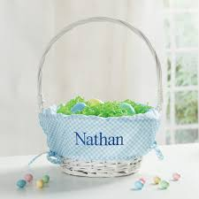 personalized basket personalized easter basket with blue liner personalized planet