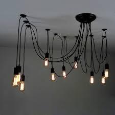 octopus 10 light canopy pendant light u2013 upoctopus blk uge