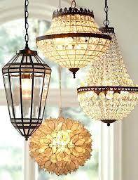 Rectangular Lantern Chandelier Pottery Barn Lantern Chandelier Clarissa Glass Drop Extra Long