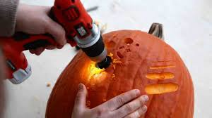 Pumpkin Carving Drilled