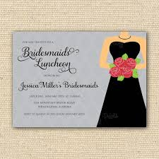 bridesmaid luncheon invitations bridal luncheon invitation wording bridal shower invitations