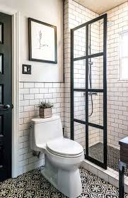 best ideas about small bathrooms pinterest designs for this bathroom trendy with metro wall tiles and patterned floor these walk shower enclosures are popping more aren they