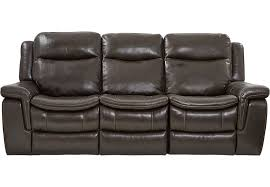 Leather Reclining Sofa Loveseat Brown Leather Power Plus Reclining Sofa Reclining Sofas