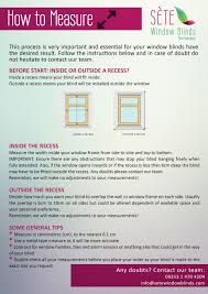 measure and install guides sete window blinds