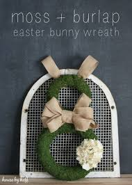 easter bunny wreath burlap and moss easter bunny wreath house by hoff