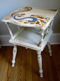 Homemade End Tables by Turquoise Two Tier End Table Furniture Refinishing