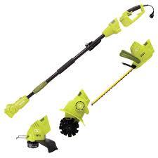 manual hedge trimmer sun joe gts4000e electric lawn care system pole hedge trimmer