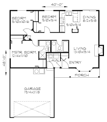 One Level Living Floor Plans One Level 3 Bedroom 2 Bath 2 Car Garage Covered Porch