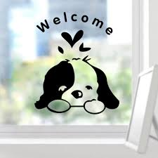welcome kids room dogs door sticker funny toilet bathroom car