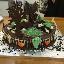 Graveyard Cakes Halloween Cakes U2013 Overfedsugar