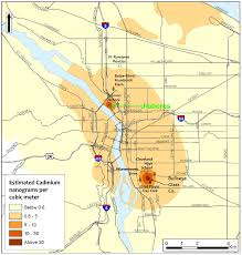 Portland Oregon County Map by Second Portland Glass Company Suspends Cadmium Use Amid Pollution