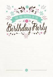 Birthday Card Invites Templates Flat Floral Free Printable Birthday Invitation Template