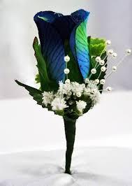 Royal Blue Boutonniere Blue Boutonniere Royal Blue Wedding Boutonnieres Blue Corsage