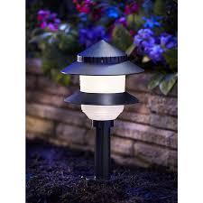 Malibu Landscape Light by Moonrays 95534 Low Voltage 4 Watt 12 Volt 2 Tier Path Lighting Kit