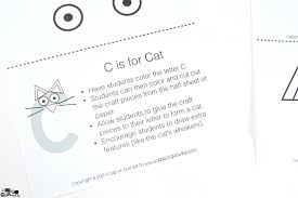 animal alphabet c is for cat craft a dab of glue will do