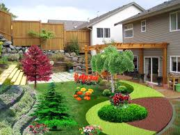 landscaping ideas for a small sloped backyard garden outdoor
