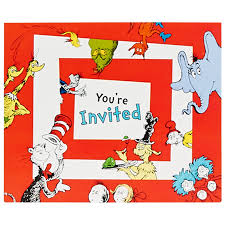 fourth of july birthday invitations dr seuss 1st birthday invitations birthdayexpress com