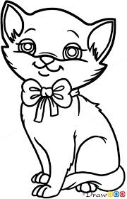 coloring marvelous drawing kitten draw coloring