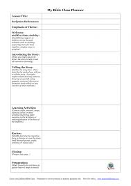 free preschool lesson plan template printable business sample