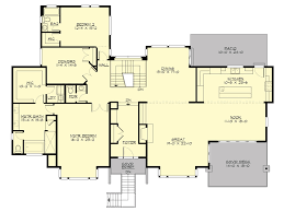 contemporary style house plan 4 beds 3 00 baths 4366 sq ft plan