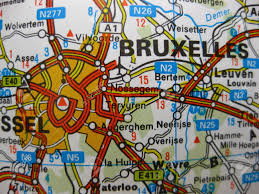 Brussels Map Europe In Seven Days Map Of Brussels Belgium Stock Photo