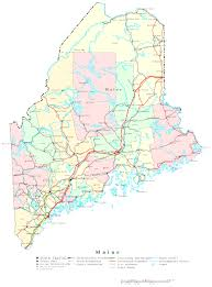 maine map with cities maine printable map endear us with cities and highways creatop me