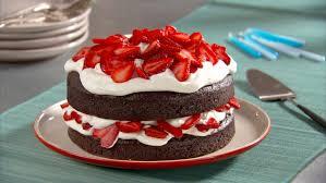 chocolate cake with whipped cream and berries recipe u0026 video