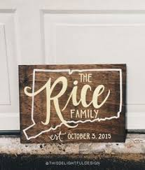 Personalized Wood Signs Home Decor Family Established Custom Calligraphy Wood Sign Wedding Gift