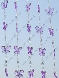Blue Butterfly Curtains Wedding Purple Butterflies Beaded Curtain For Deco Bc052