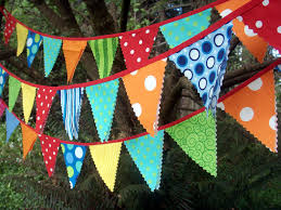Pretty Bunting Flags Circus Bunting Fabric Party Flags Size Small Bunting Banner