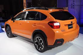 subaru orange crosstrek 2012 new york auto show 2013 subaru xv live pictures